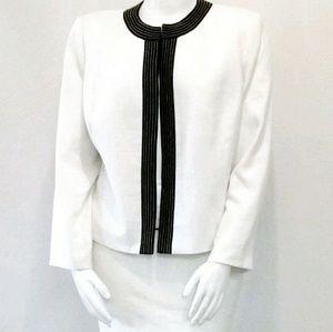 Kasper Two-Piece White Skirt Suit Size 18W